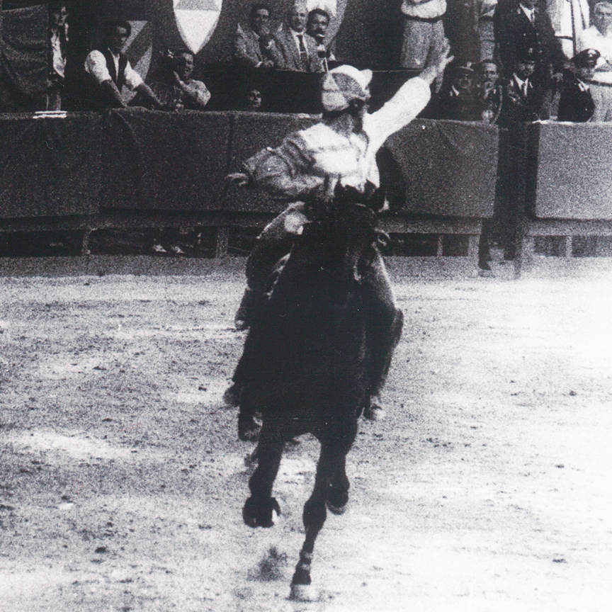 "Palio 1995: Franco Casu detto ""Spirito"" su Garbata"